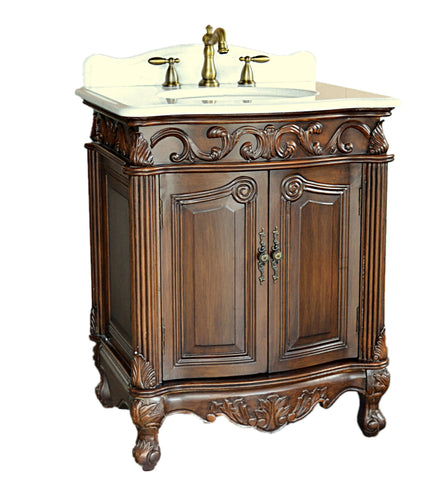 "27"" Petite Powder Romm Hayman Bathroom Sink Vanity model # BC-2917W-TK - Chans Furniture"