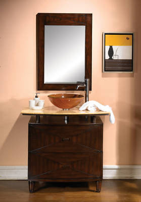 Verdana 36-inch Vanity & Mirror Q136 - Chans Furniture - 1