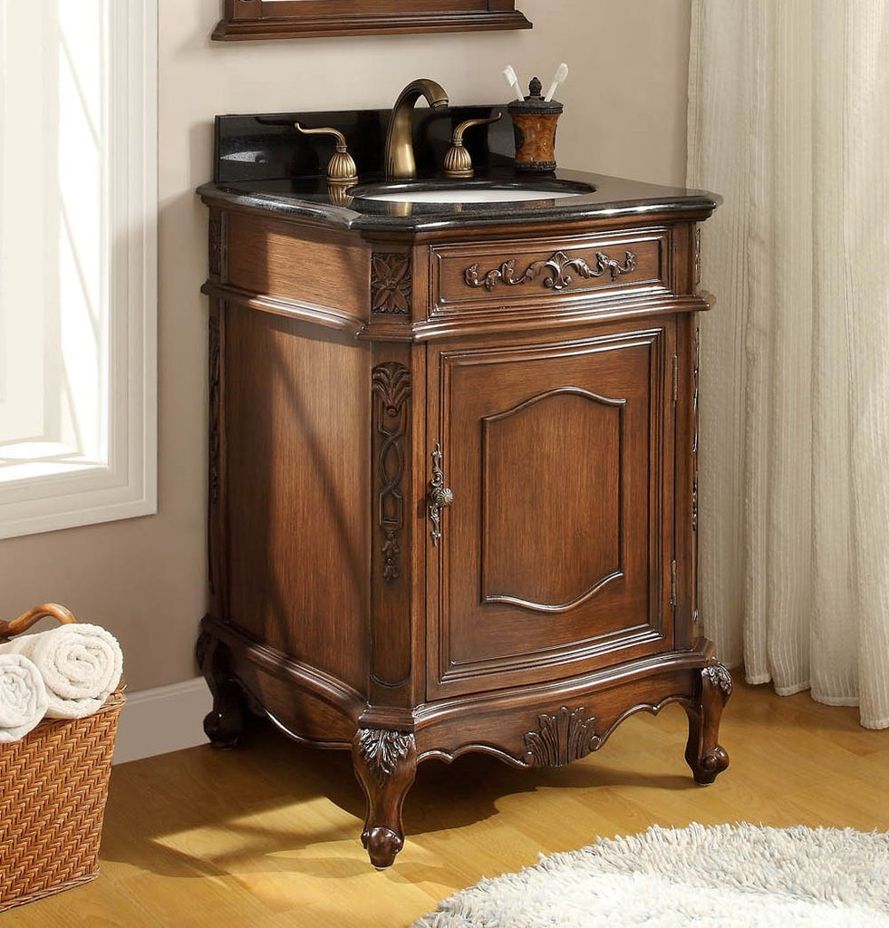 "24"" Classic Petite Powder Room Debellis Bathroom Sink Vanity Model #  BWV-047GT - Chans Furniture - 1"