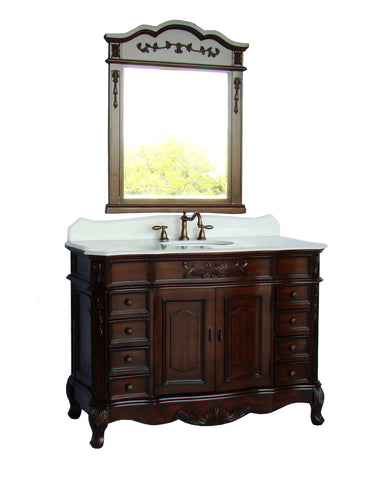 "48"" Classic style Morton Bathroom Sink Vanity & Mirror CF-2815W-TK-48-MIR2815TK - Chans Furniture - 1"