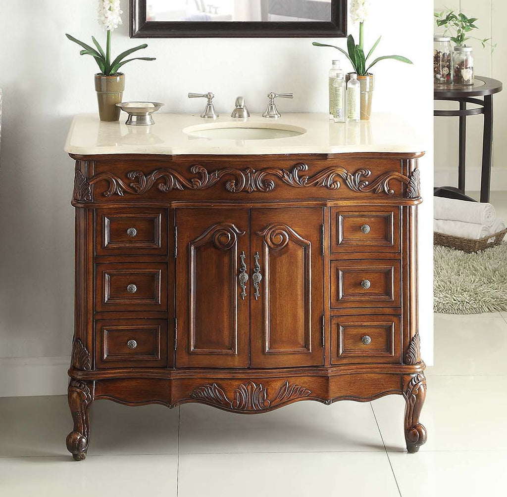 "42"" Classic Beckham Bathroom Sink Vanity - CF-3882W-TK-42 - Chans Furniture - 1"