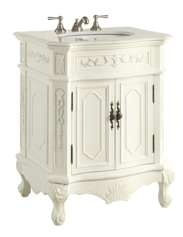 "27"" Antique white Spencer Bathroom Sink Vanity  - CF-3305W-AW-27 - Chans Furniture - 1"