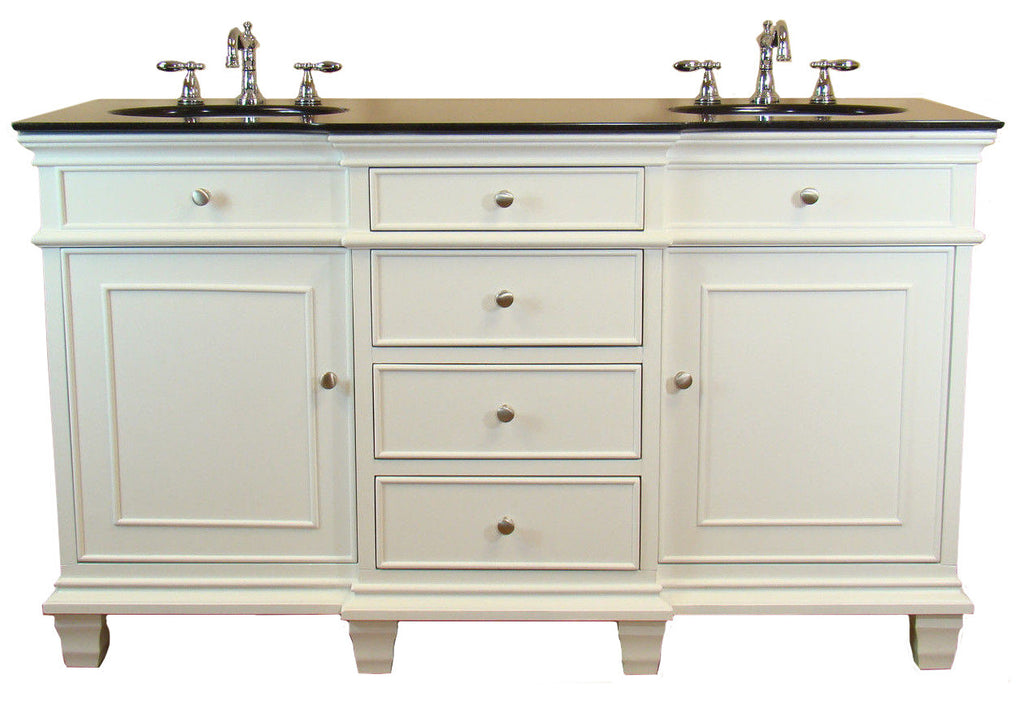 "60"" Comtempory Style Conduit Double Sink Bathroom Sink Vanity -  CF-64601GT - Chans Furniture - 1"
