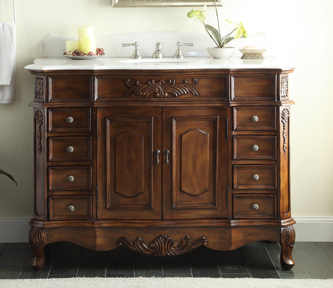 "48"" Classic Style Morton Bathroom Sink Vanity CF-2815W-TK003-48 - Chans Furniture - 1"