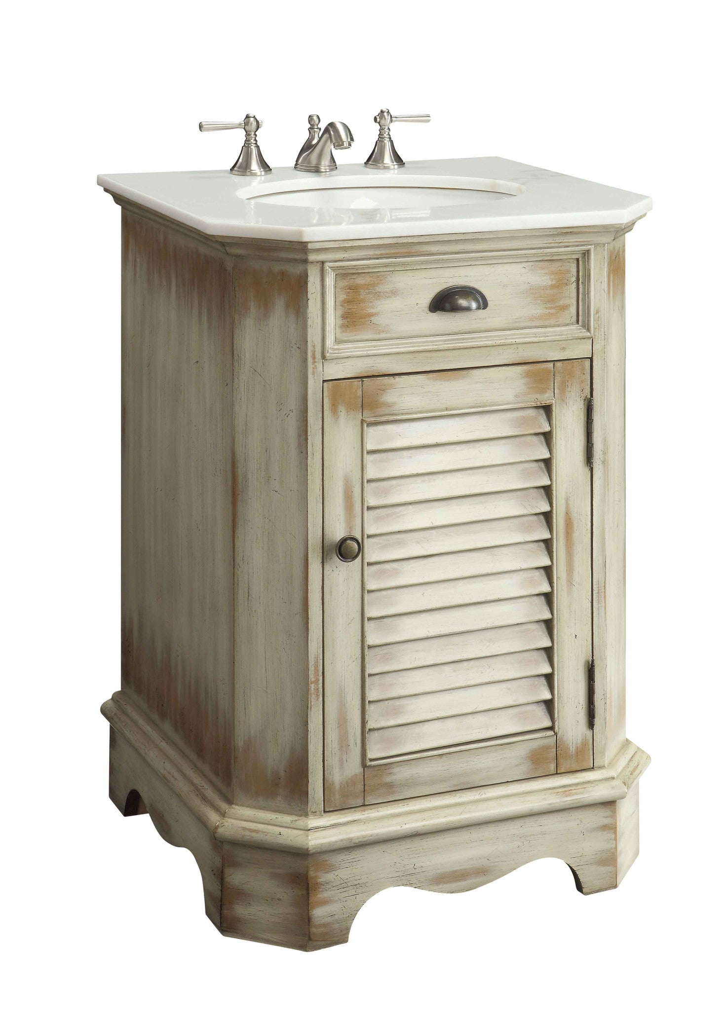 24 benton collection distress look abbeville powder romm - 20 inch bathroom vanity and sink ...