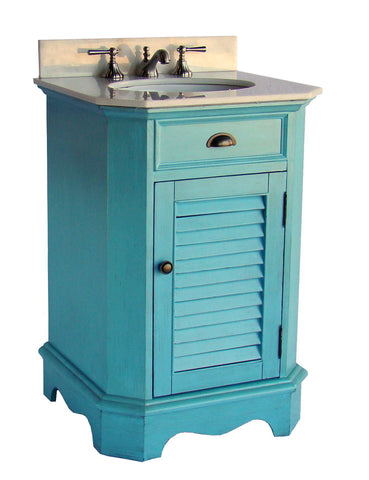 "24"" Cottage style Abbeville Bathroom Sink Vanity CF47523BU - Chans Furniture - 1"
