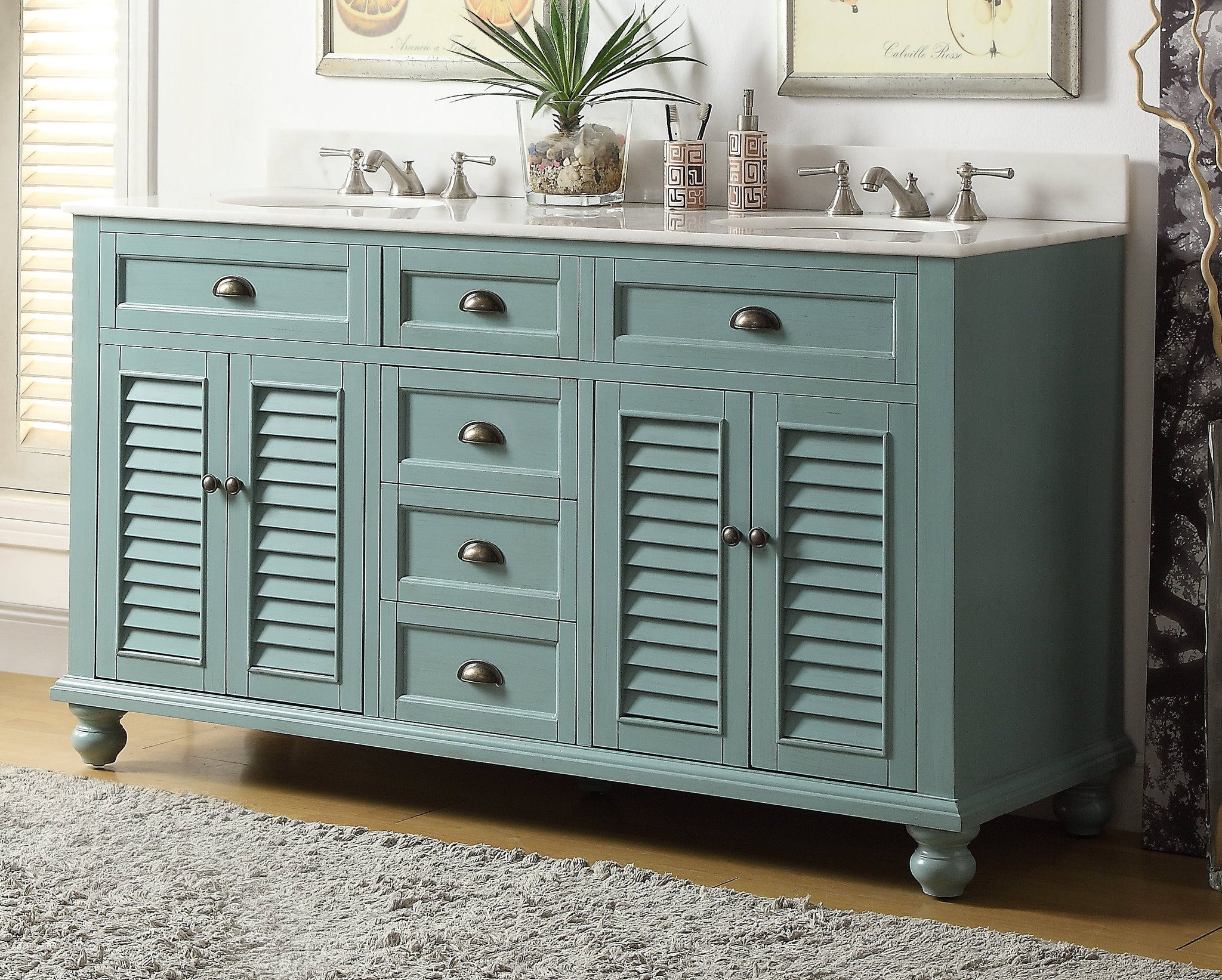 Cottage Look Glennville 60 Inch Vanity Gd 21333 The