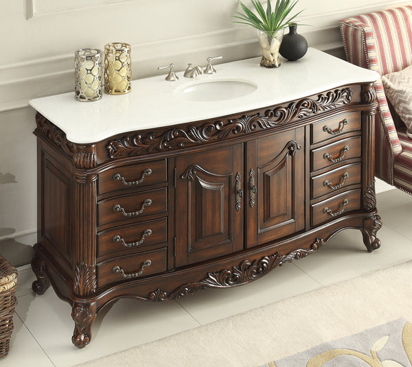 60 benton collection crystal white marble counter top - 60 inch unfinished bathroom vanity ...