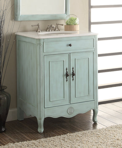 "26"" Cottage Style 2 doors Daleville Bathroom Sink Vanity  - 838LB - Chans Furniture - 1"
