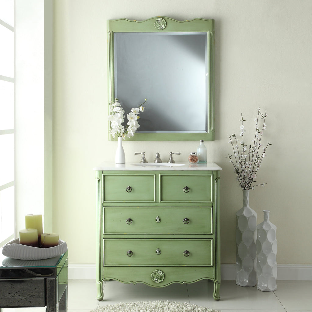 Daleville 34-inch Vanity & Mirror HF081G-M - Chans Furniture - 1