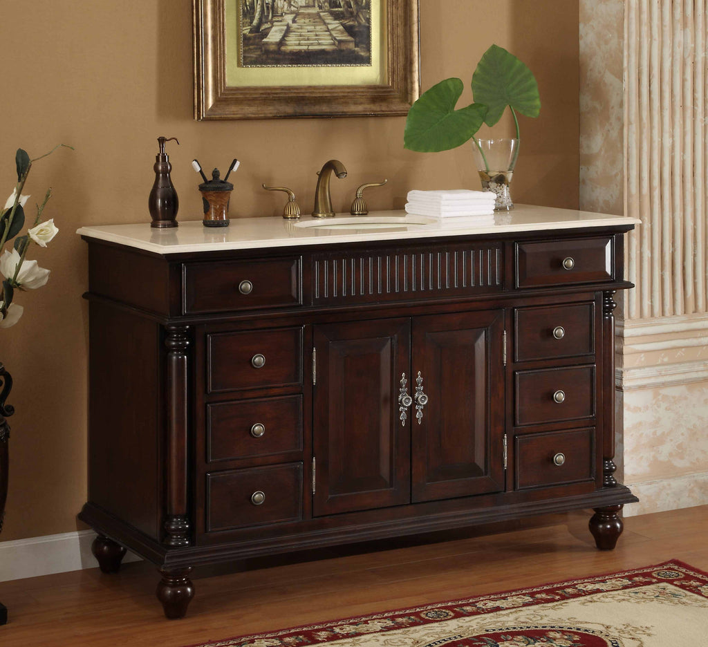 "53"" Traditional Style Brockton Bathroom sink Vanity model # K2261M - Chans Furniture - 1"