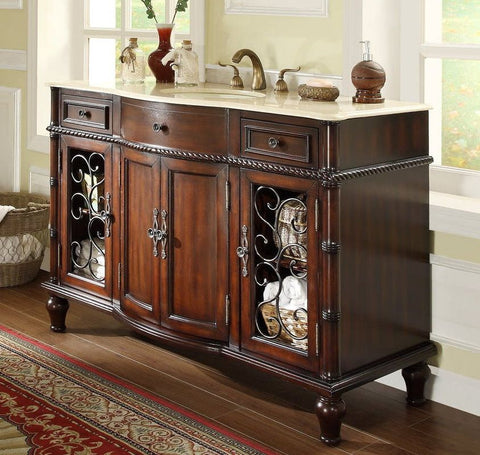 "53""  All Wood Construction Willington Bathroom Sink Vanity  model # K3303M-53 - Chans Furniture - 1"