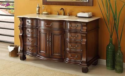 "60"" Spacious and Garnd Solid Wood Hopkinton Bathroom Sink Vanity model # GD-4437M-60 - Chans Furniture - 1"