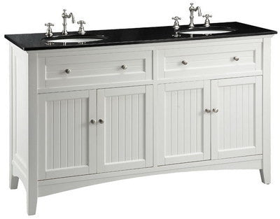 "60""  Cusual Style Double Sink Thomasville Bathroom Sink Vanity - CF47530GT - Chans Furniture - 1"
