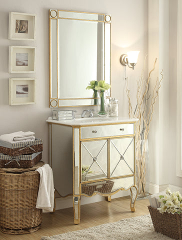 Mirrored Vanities & Mirror Sets