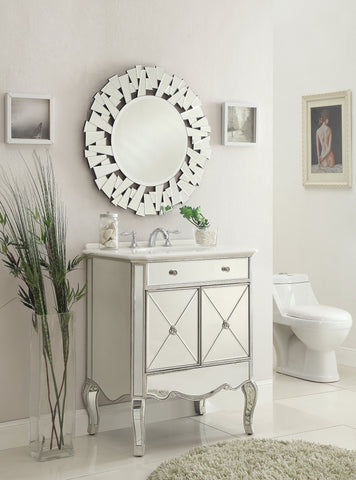 "30"" Mirror reflection Adelisa Bathroom Sink Vanity & Mirror Set  5106-SC/MR-3036 - Chans Furniture - 1"