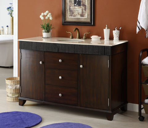 "54"" Contemporary Felton Bathroom Sink Vanity Cabinet  model # Q154M-54 - Chans Furniture - 1"