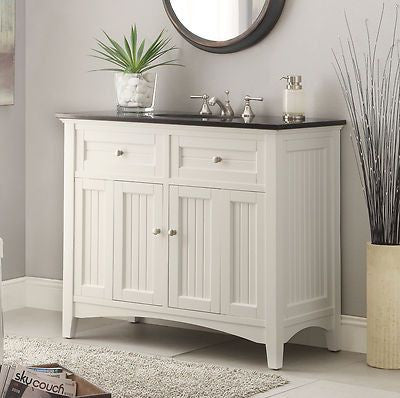 "42""  Cauual Style Thomasville Bathroom Sink Vanity Cabinet #  CF47532GT - Chans Furniture - 1"