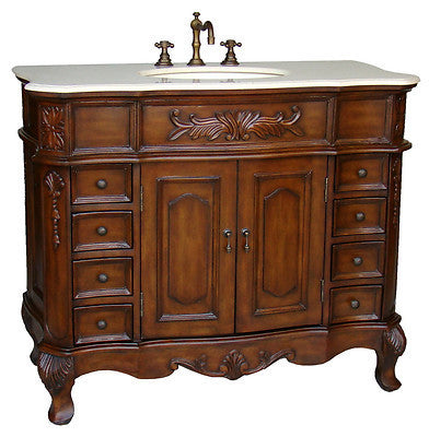 "42""  Classic style Morton Bathroom sink vanity # HF-2815M-TK-42 - Chans Furniture - 1"