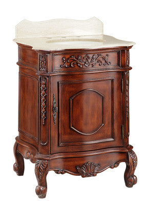"26"" Petite Powder Room Charlton Bathroom Vanity model #  CF-35584TK - Chans Furniture"
