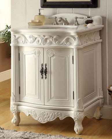 "27"" Classic Style Hayman Bathroon Sink Vanity model # BC-2917W-AW - Chans Furniture"