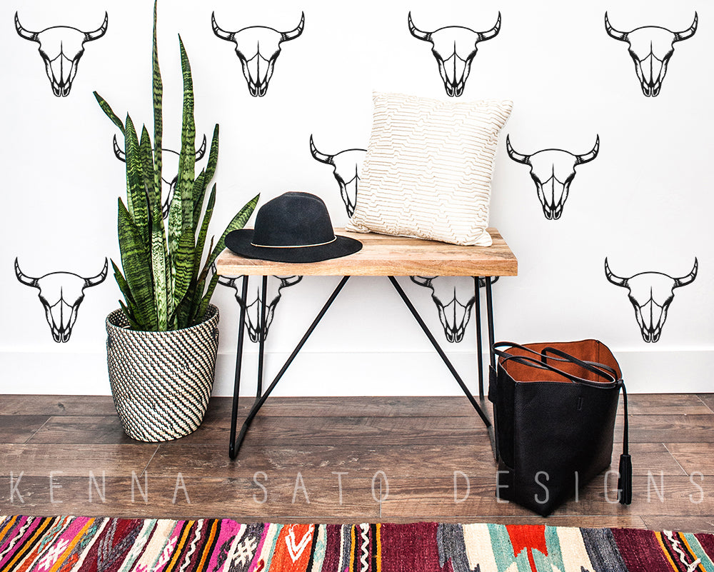 Cow Skull Wall Decals