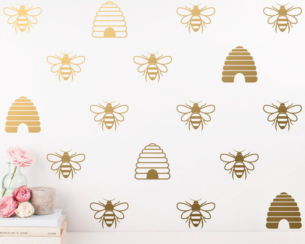 Bee & Beehive Wall Decals