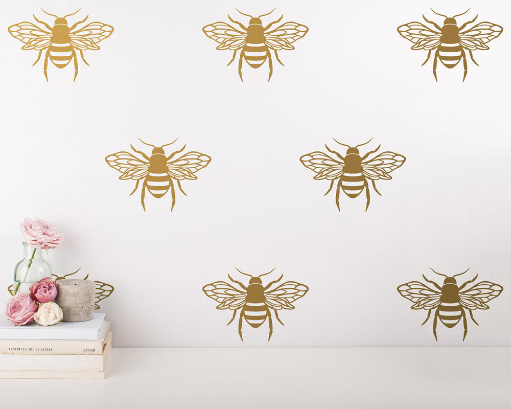Anatomical Bee Wall Decals