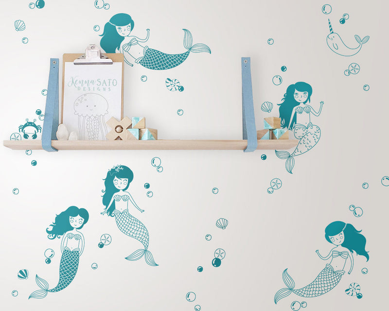 Mermaid Wall Decals