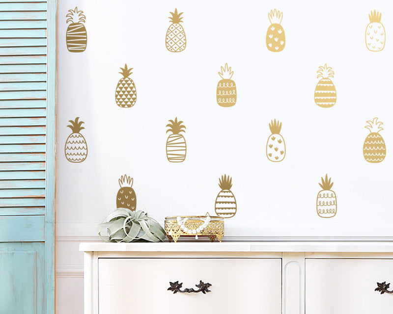 Patterned Pineapple Wall Decals