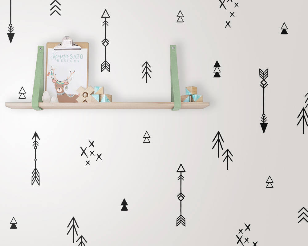 Tribal Arrow & Triangle Wall Decals