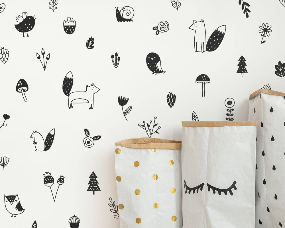 Woodland Wall Decals (Style 2)