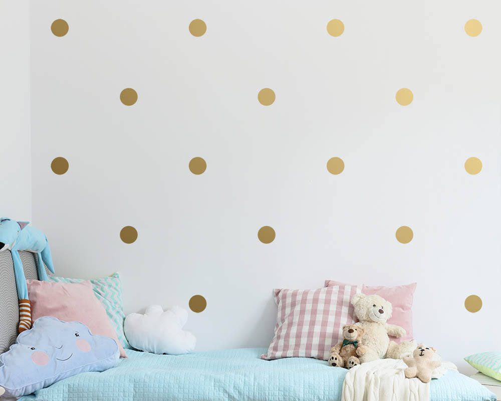 Polka Dot Wall Decals - 3""