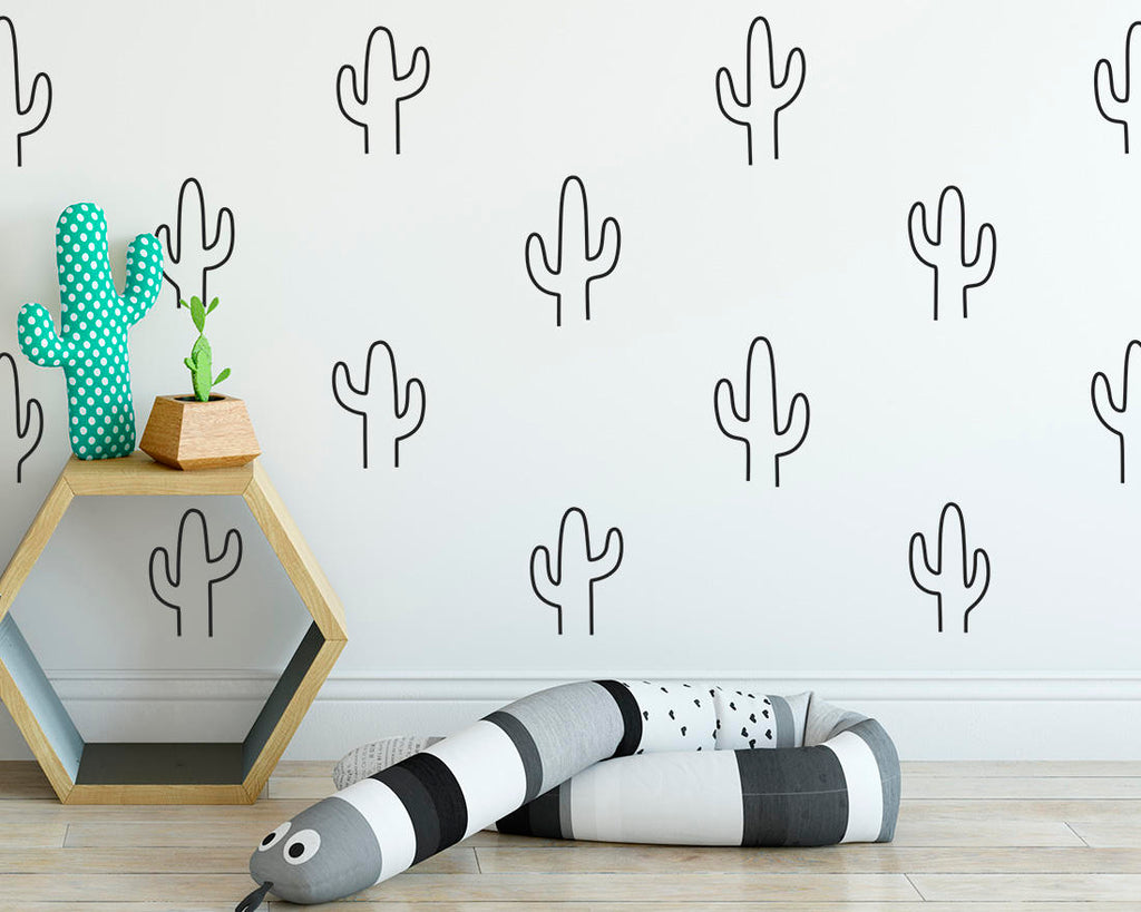 Cactus Outline Wall Decals