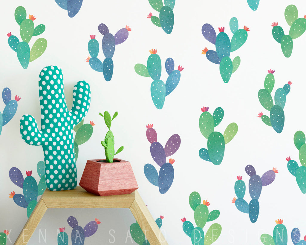Cactus Decals - Printed Reusable Wall Decals