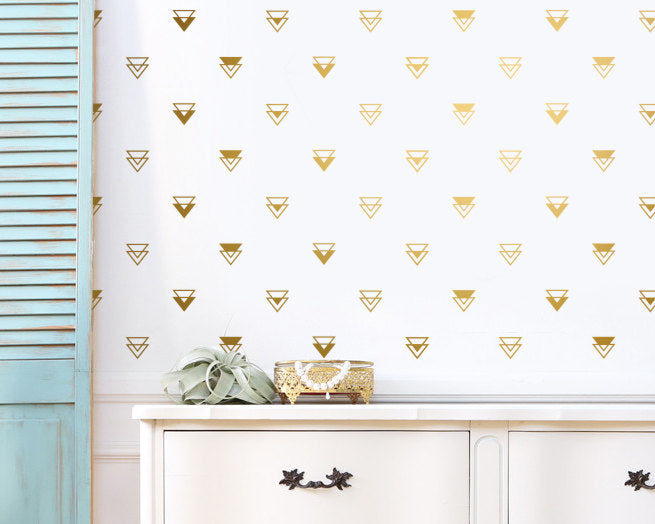 Geometric Triangle Wall Decals
