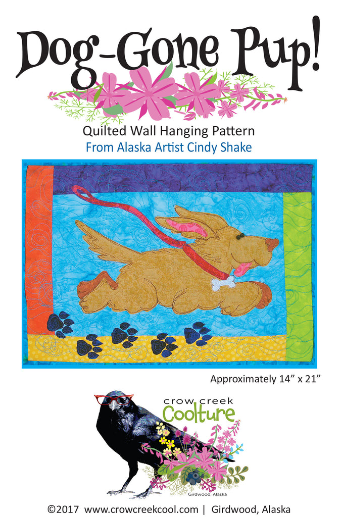 Quilted Wall Hanging Pattern - Dog Gone Pup!