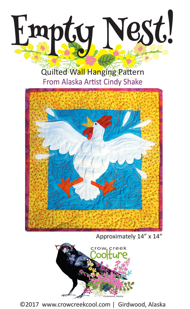 Quilted Wall Hanging Pattern - Empty Nest!