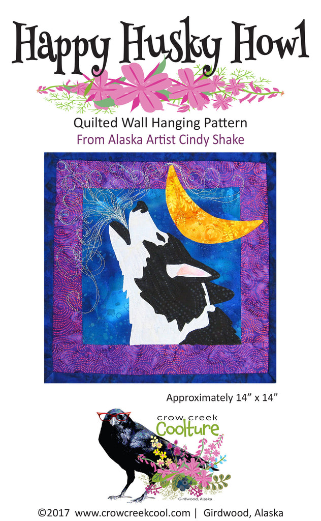 Quilted Wall Hanging Pattern - Happy Husky Howl