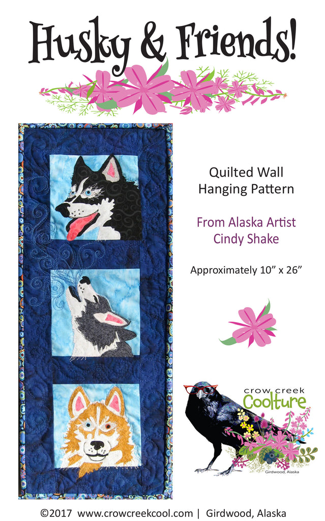 Quilted Wall Hanging Pattern - Husky & Friends!