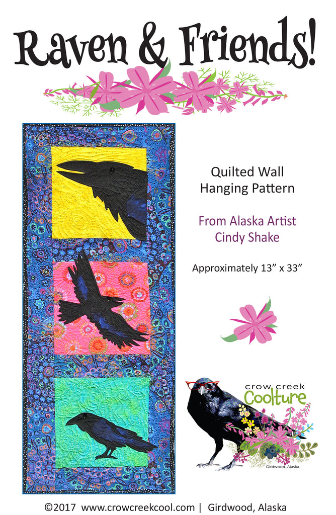 Quilted Wall Hanging Pattern - Raven & Friends!