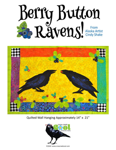 Berry Button Ravens - Digital Download Quilted Wall Hanging Pattern