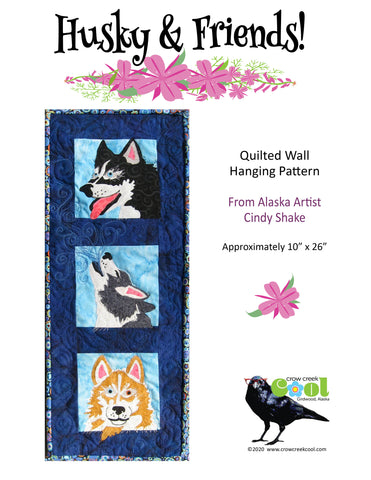 Husky & Friends - Digital Download Quilted Wall Hanging Pattern