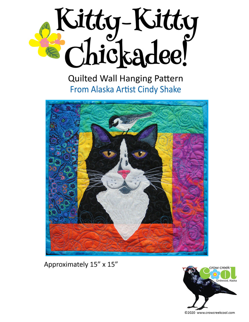 Kitty Kitty Chickadee - Digital Download Quilted Wall Hanging Pattern