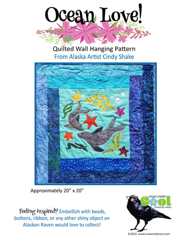 Ocean Love - Digital Download Quilted Wall Hanging Pattern