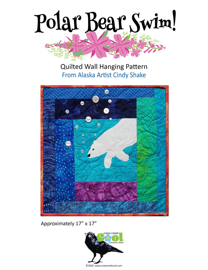 Polar Bear Swim - Digital Download Quilted Wall Hanging Pattern