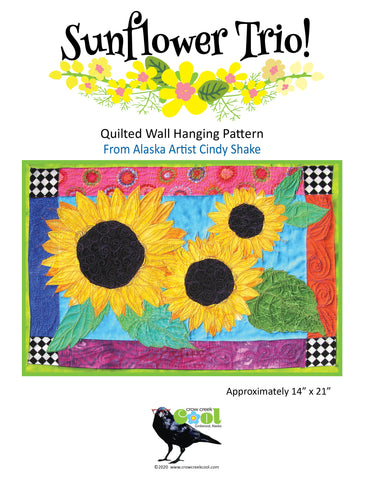 Sunflower Trio - Digital Download Quilted Wall Hanging Pattern