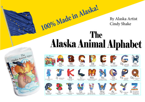 Alaska Animal Alphabet Poster Strips