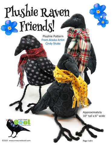 Plushie Raven Friends - Digital Download Pattern