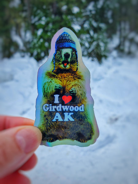 Mini Wooly Marmot Sticker